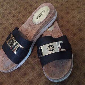 Michael Kors slip on sandals, size 9 1/2